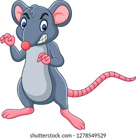 Cartoon rat with angry expression
