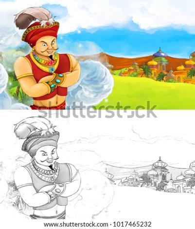 cartoon scene happy king od 450w