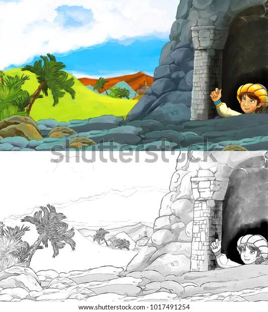 cartoon scene happy king od 600w