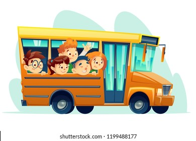 School Bus Cartoon Images Stock Photos Vectors Shutterstock