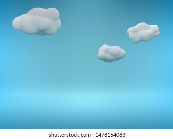 cartoon sky background 3d render illustration