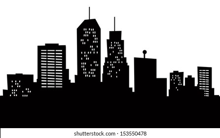 A cartoon skyline of Newark, New Jersey, USA.