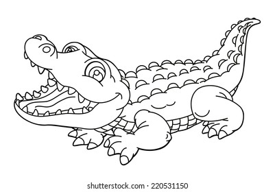 Top 25 Free Printable Alligator Coloring Pages Online   280x401