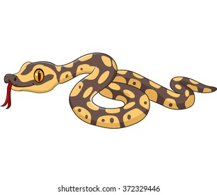 Cartoon snake character isolated on white background