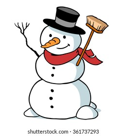 Image result for cartoon pic of a snowman