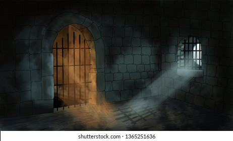 Cartoon style dungeon