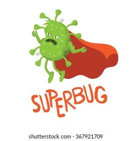 Cartoon superbug.