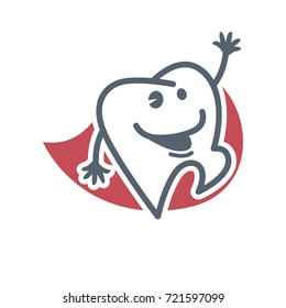Cartoon tooth logo template child dentistry stock vector royalty cartoon tooth logo template for child dentistry or dental toothpaste product label tag maxwellsz