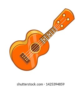 Cartoon ukulele illustration. Ukulele icon