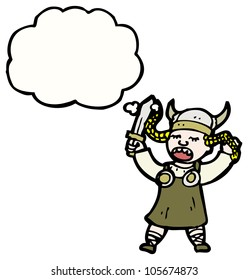 cartoon viking girl