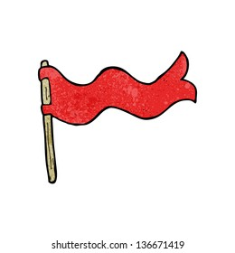 cartoon waving flag