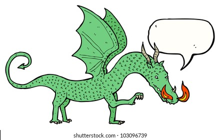 cartoon welsh dragon