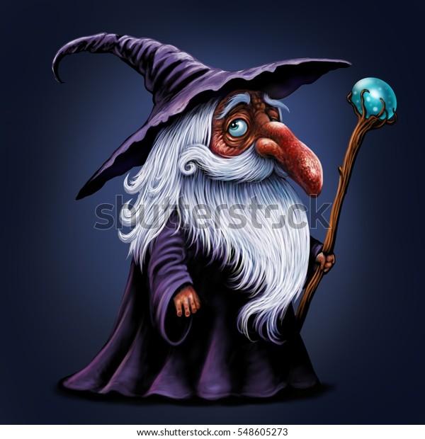 Cartoon Wizard Illustration Magic Old Man Stock Illustration 548605273 Three skull illustrations, fantasy art, wizard, snow, mask. https www shutterstock com image illustration cartoon wizard illustration magic old man 548605273