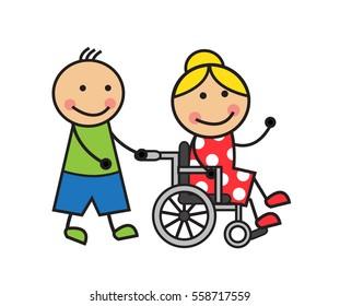 Cartoon Wheelchair Images Stock Photos Amp Vectors