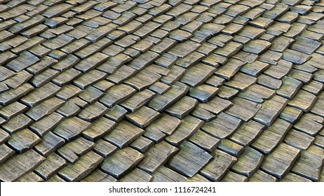 Cartoon wooden shingles texture. 3d-render