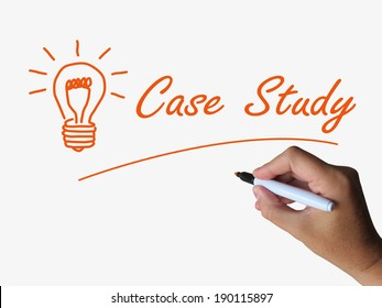 Case Study and Lightbulb Indicating Concepts Ideas and Research