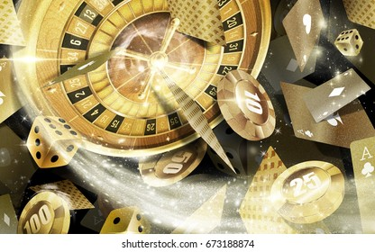 Casino games Background in Gold