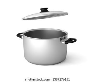 casserole stewpan stockpot pot saucepan 3D illustration