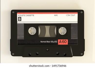 cassette tape isolated on white background 3d illustration