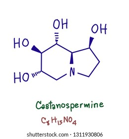 Castanospermine is an indolizidine alkaloid first isolated from the seeds of Castanospermum australe. It is a potent inhibitor of some glucosidase enzymes and has antiviral activity in vitro
