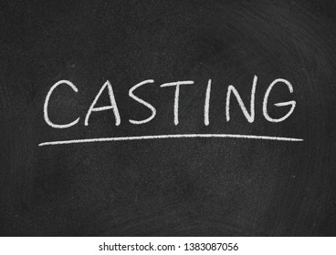 casting concept word on a blackboard background