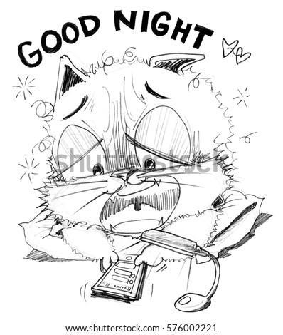 Cat Chat Social Net Work On Stock Illustration