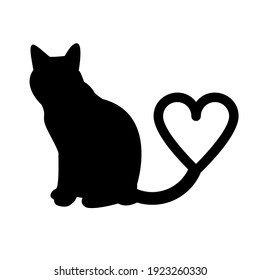a cat with a heart-shaped tail signifies affection and love