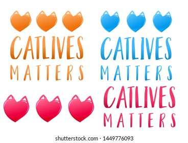 Cat lives matters - perfect clipart for crazy cat lovers
