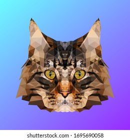 Cat in Low Poly Design
