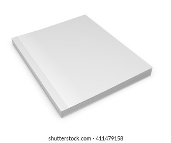 Catalog blank cover mock up 3d illustration.