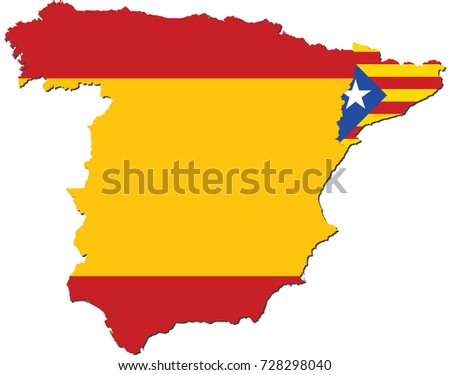 Royalty Free Stock Illustration Of Catalonia Separation Spain