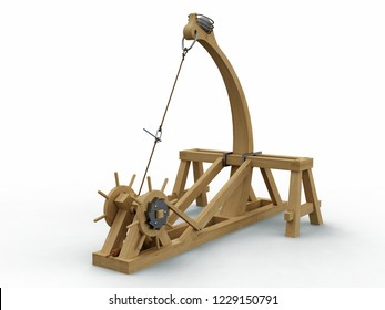 Catapult, Leonardo da Vinci, Codex Atlanticus 0141r. 3D model