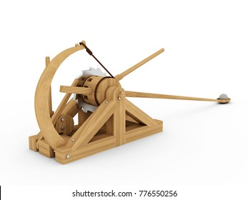 Catapult, Leonardo da Vinci, Codex Atlanticus/140r. 3D model.