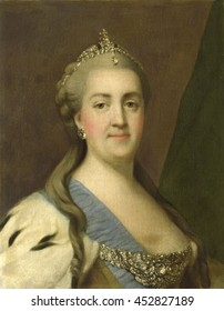 Catherine II (1729-96), Empress of Russia, by Vigilius Erichsen, 1757-72, Danish painting, oil on canvas. Between 1757 and 1772 Erichsen worked in Saint Petersburg as the imperial court painter
