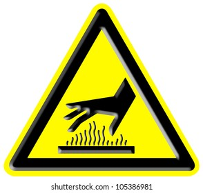 Caution hot surface sign
