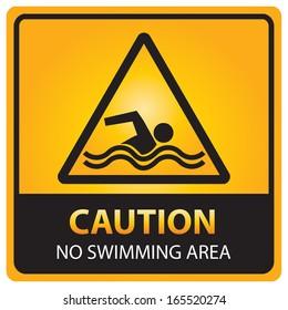Caution no swimming area sign.JPG