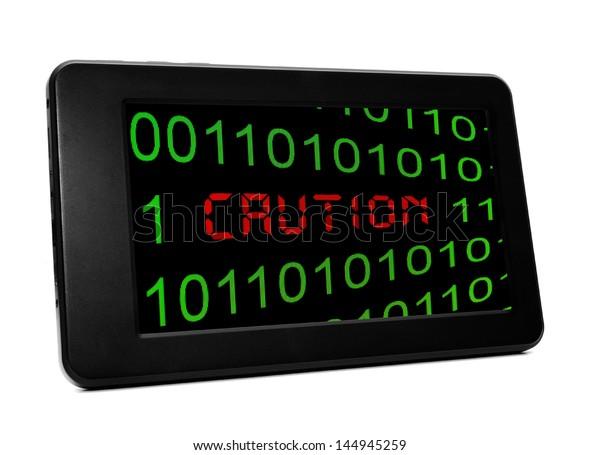 Caution PC tablet