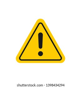 Caution sign. Hazard warning attention sign with exclamation mark. Danger triangle symbol for mobile and web concept