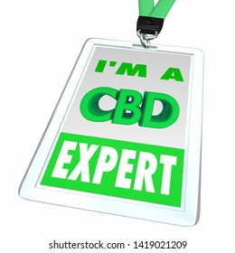 CBD Cannabidiol Marijuana Cannabis Name Badge Expert Employee Dealer 3d Illustration