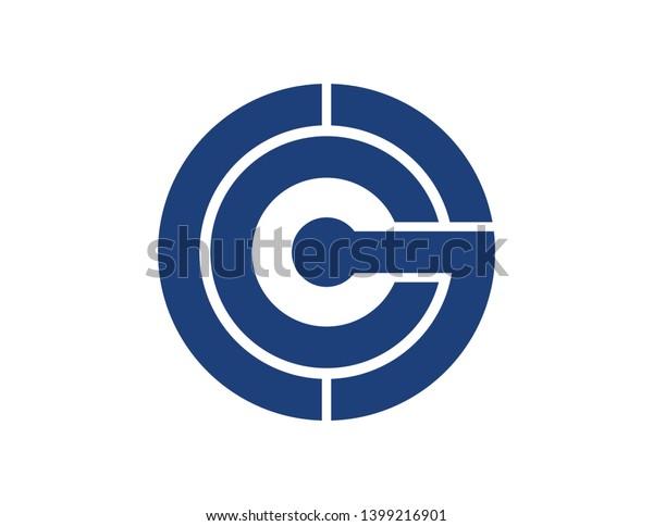 Ccg Original Monogram Logo Design Stock Illustration 1399216901