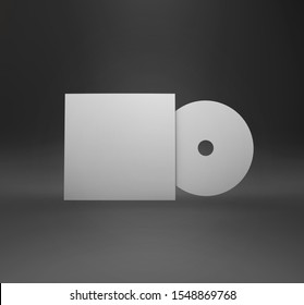 CD album mock up in a gradient backdrop. A minimal template, layout to use your own CD cover (3D render)