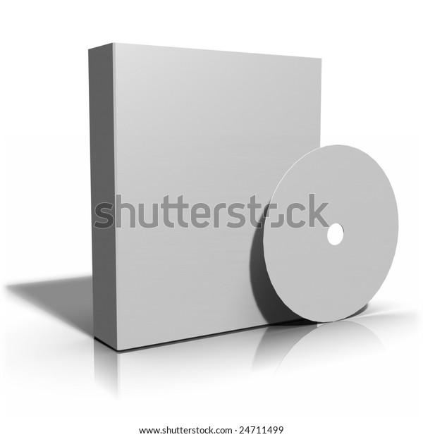Cd Dvd Software Box White Label Stock Illustration 24711499