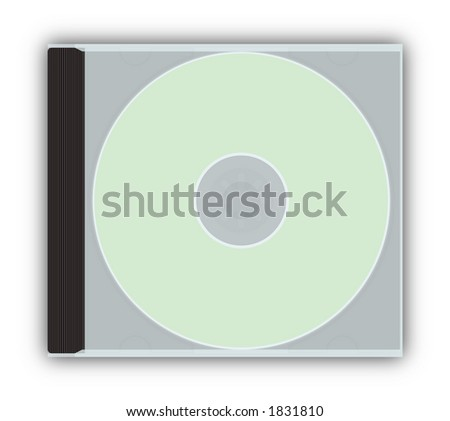 cddvd closed jewel case template with stock illustration 1831810