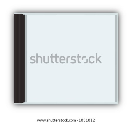 cddvd closed jewel case template with stock illustration 1831812