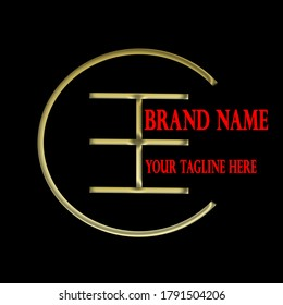 CE concept gold logo design describes the letter concept of the logo for a variety of business and personal branding. The letters C and E are highlighted in a specific way and treated in gold.