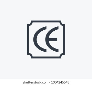 Ce marking icon isolated on clean background. Ce marking icon concept drawing icon in modern style.  illustration for your web mobile logo app UI design.