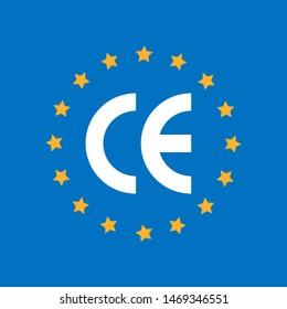 CE marking (short for Conformite Europeenne) symbol.