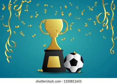 Celebration background image about football victory.