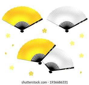 Celebration fan Sakura pattern set