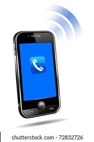 Cell Smart Phone Ringing Mobile - raster version
